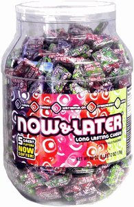 Now & Later Classic Candy Tub 400ct (3lbs 12oz)