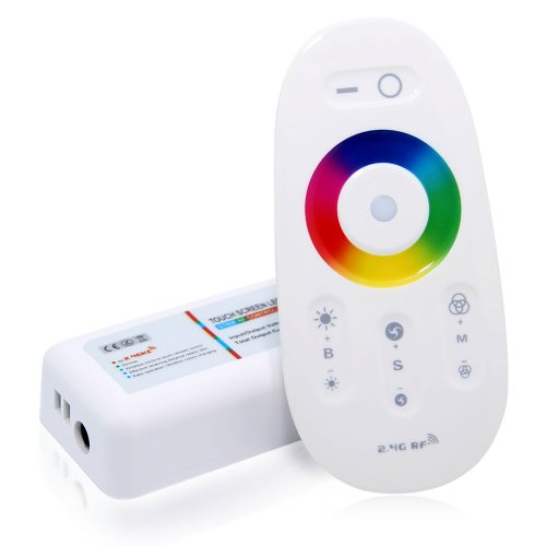 2.4G Wifi Compatible Rgb Led Controller W/ Wireless Rf Remote And Wifi Phone Adapter