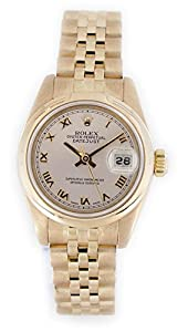Pre-owned Rolex Datejust Ladies Date Display Rose Gold Watch - 179165