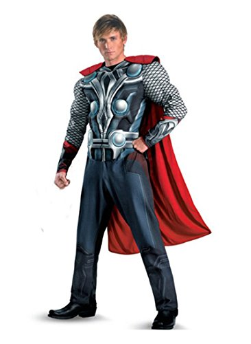 JWUP Men's Hallowen Cosplay Costumes the Avengers Thor Cosplay for Adult with Cloak