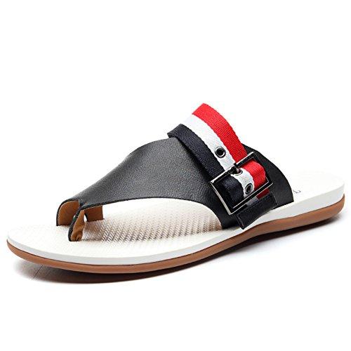 chaussons/Tendances hommes en sandales d'été/La version coréenne de tongs/Pincer les tongs feuillet