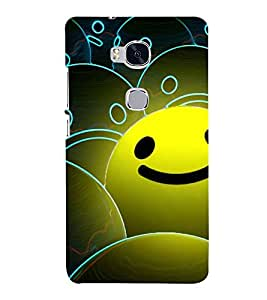Animated Smile 3D Hard Polycarbonate Designer Back Case Cover for Huawei Honor 5X :: Huawei Honor X5 :: Huawei Honor GR5