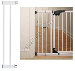 Pet Studio Steel/Plastic Pet Gate Extension, Small, White