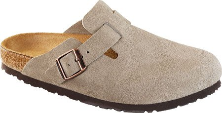 Birkenstock Boston Slip-On Shoes, 37, Taupe Suede