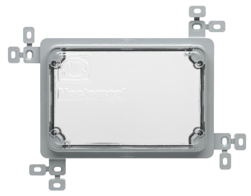 MK Masterseal Plus K56501GRY 2-Gang Plaster/Tile Flush Mounting Frame with Protective Cover