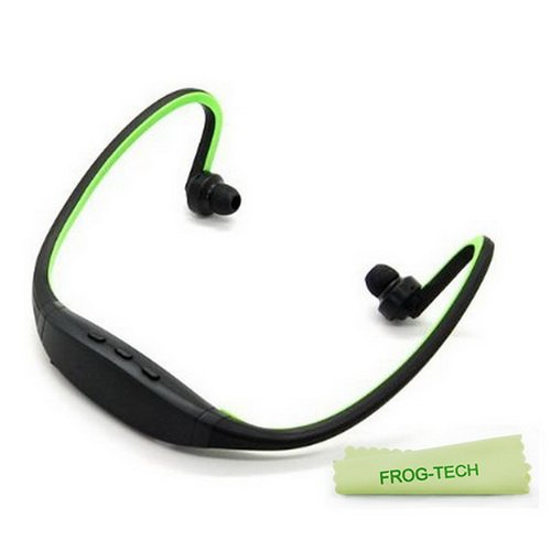 Frog-Tech Colorful Sports Wireless Bluetooth Headset Headphone Earphone For Iphone 4 ,Iphone 4S Samsung S3 S4,Etc(Black/Green)