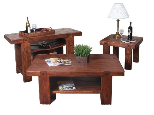 Cheap 3pc Set Russian River Cocktail, Console & End Table (Available in 8 Finishes) (267-268-286)
