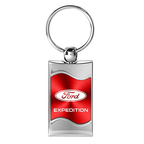 ford-expedition-red-spun-brushed-metal-key-chain