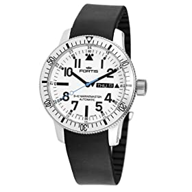 Fortis Men's 647.11.42K B-42 Marinemaster Automatic White Dial Watch: Watches