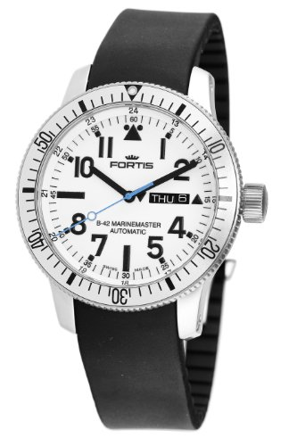 Fortis Men's 647.11.42K B-42 Marinemaster Automatic White Dial Watch