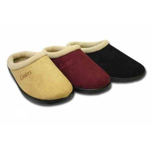 Ladies COOLERS MICROSUEDE clog slipper 289 UK 7 Tan