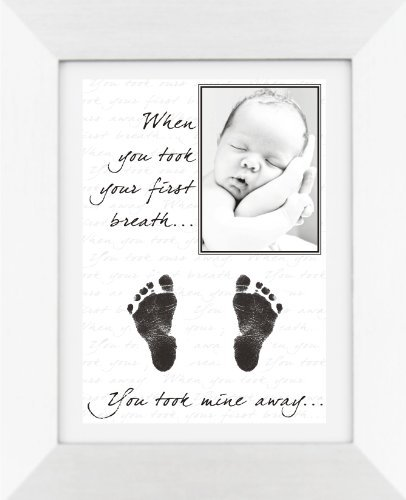 Babyrice New Baby Hand And Footprint Kit With Display Photo Frame - Your Baby'S Handprints! **Choice Of Frames Available On This Listing** (Mine: Silver Frame / White Mount)