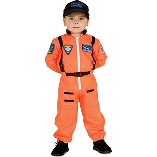Orange Astronaut Suit Kids Costume
