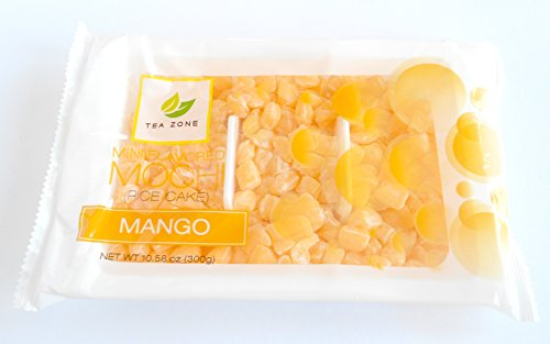 Tea Zone Mini Mochi Rice Cake Dessert Toppings 10.58 Oz. Bag (Mango)