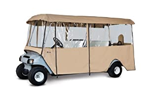 Classic Accessories Fairway Deluxe 4-Sided 6-Person Golf Cart Enclosure, Tan by Classic Accessories