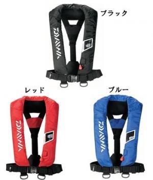 ダイワ(Daiwa) ウォッシャブルライフジャケット(肩掛けタイプ手動・自動膨張式) フリー ブラック DF-2005