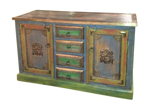 Large Distressed Wooden Sideboard