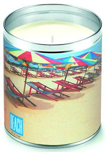 Aunt Sadie s Beach In A Can Striped Umbrellas Candle (Suntan Lotion Scent)