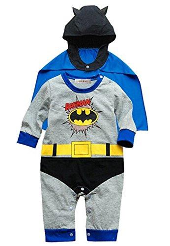[StylesILove Baby Boy Batman Costume Jumpsuit and Cape 2-piece (18-24 Months)] (Batman Costumes Infant)