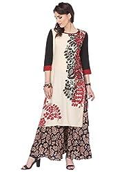 Printed Stitched Kurti With Cotton Flex Fabric