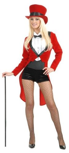Charades Womens Sexy Circus Lady Ring Master Halloween Costume