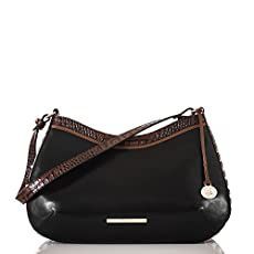 Cayson Shoulder Bag<br>Black Tuscan Tri-Texture