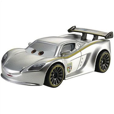 Disney/Pixar Cars, 2015 Exclusive Silver Racer Series, Lewis Hamilton Die-Cast Vehicle, 1:55 Scale
