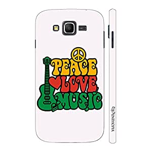 Enthopia Designer Hardshell Case Peace Love Music Back Cover for Samsung Galaxy J3 (2016)