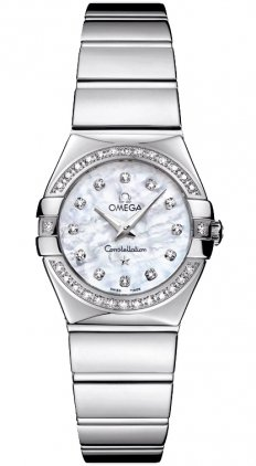 Omega Constellation Mother of Pearl Diamond Dial Stainless Steel Ladies Watch 12315246055003