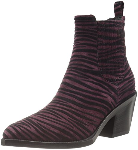 Just-Cavalli-Womens-Flocked-Zebra-Boot-Ankle-Bootie
