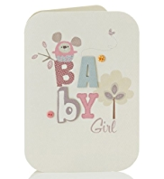 Collage Cute Baby Girl Card