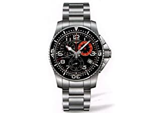 Longines HydroConquest Chronograph Black Dial Stainless Steel Mens Watch L36904536