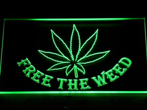 Adv Pro 404-G Free The Weed Marijuana High Life Led Light Sign