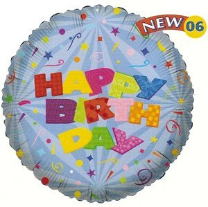 "Birthday Balloon 18"" (5 ct)"