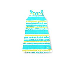 cherry crumble california Girls' Dress (WS-DRS-0211-4T, Turquoise, 3-4 Years)