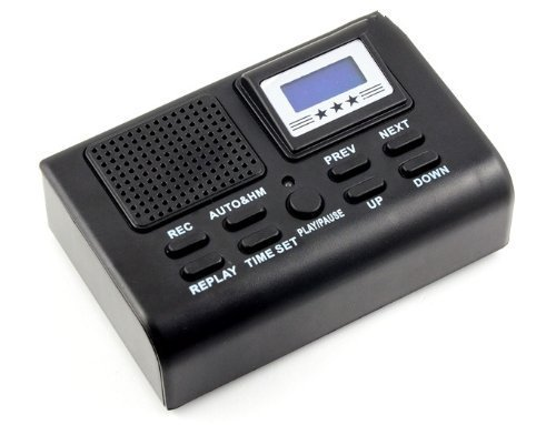 RioRand® Digital Telephone Call Recorder Phone Recording Rec System (BLACK) (Digital Telephone Recorder compare prices)