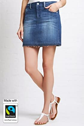 Indigo Green Fairtrade Cotton Rich Denim Mini Skirt