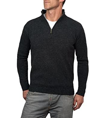 Wool Overs Pull camionneur homme en laine d'agneau vierge Anthracite XS
