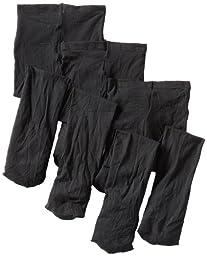 Jefferies Socks Baby Girls\' Smooth Skin Tights 3 Pair Pack, Black, 6 18 Months