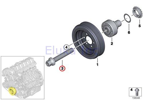 Bmw Genuine Belt Drive Vibration Damper Crankshaft Pulley