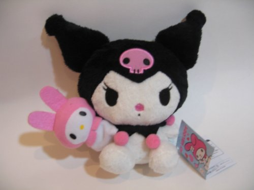 Kuromi and My melody plush 6 inches Furyu Official Sanrio Japan Picture