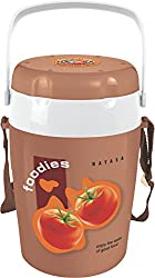 Nayasa Foodies Plastic Tiffin, 4-Pieces, Brown