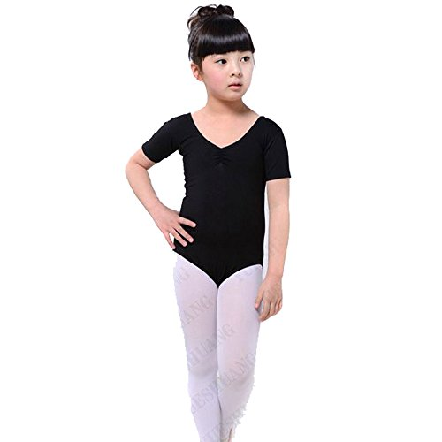 ROPALIA Girls Ballet Dance Dress Gymnastics Slim Clothes Leotards 3-12Y