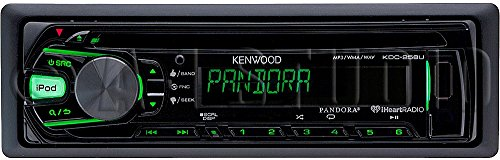 KDC-258U - Kenwood Single DIN In-Dash CD/MP3 Stereo Receiver with USB/AUX Input