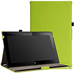 MoKo Nokia Lumia 2520 Case - Slim-Fit Multi-angle Stand Cover for Nokia Lumia 2520 10.1 Inch Microsoft Windows RT 8.1 Tablet GREEN