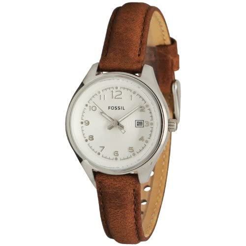 Amazon.com: FOSSIL Flight Mini Three Hand Leather Watch - Tan: Fossil