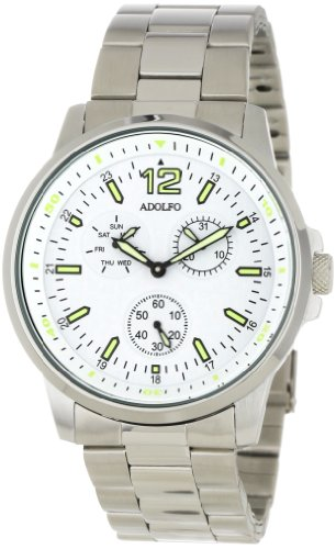 ADOLFO Men's 31028C 3 Sub Zone Multifunction Round Watch
