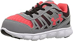 Kids Under Armour BINF Spine RN GR Infant/Toddler, Steel, 2 Infant M