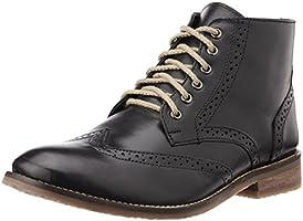 Bata Men's Downey Black Leather Boots - 7 UK/India (41 EU) (8056113)