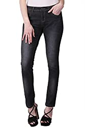 KOTTY Black Washed Mid Rise Slim Jeans